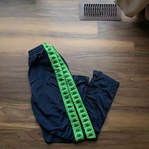 Kappa Green & Navy Blue Jogging Pant